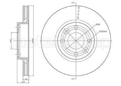 Bremsscheibe Vorderachse Metelli 23-0641C