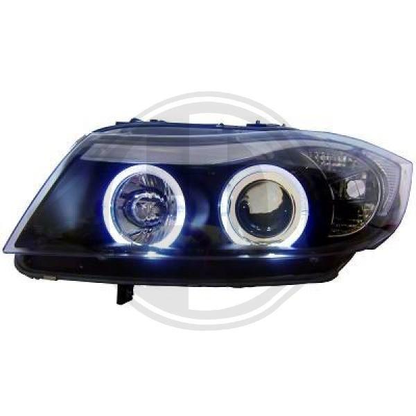 Scheinwerfer Angel Eyes klar/schwarz BMW 3er E90 05-08 Diederichs