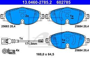 Bremsbelagsatz, Scheibenbremse Vorderachse ATE 13.0460-2785.2