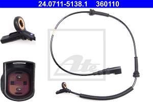 Sensor, Raddrehzahl Vorderachse ATE 24.0711-5138.1