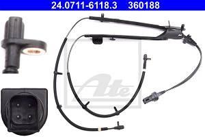 Sensor, Raddrehzahl Hinterachse ATE 24.0711-6118.3