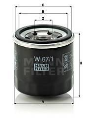 Ölfilter MANN-FILTER W 67/1