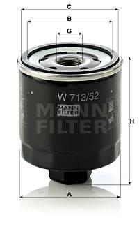 Ölfilter MANN-FILTER W 712/52