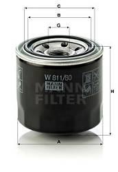 Ölfilter MANN-FILTER W 811/80