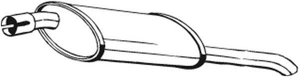 BOSAL Endschalldämpfer für OPEL ASTRA 185-009 Mister Auto Autoteile