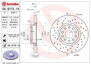 Bremsscheibe Vorderachse Brembo 09.9772.1X